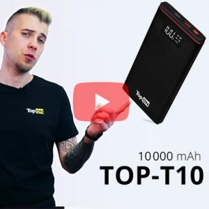 Видеообзор внешнего аккумулятора TOP-T10