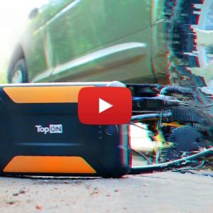 Внешний аккумулятор TopON TOP-X38 и автомобильный компрессор Качок К50 (144W)