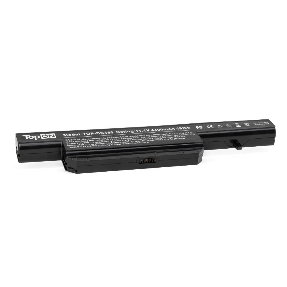 TopON TOP-DN450 Аккумулятор для ноутбука DNS 0162456, 0150166, 0137235 Series. 11.1V 4400mAh 49Wh. PN: C4500BAT-6, CS-CLM450NB.