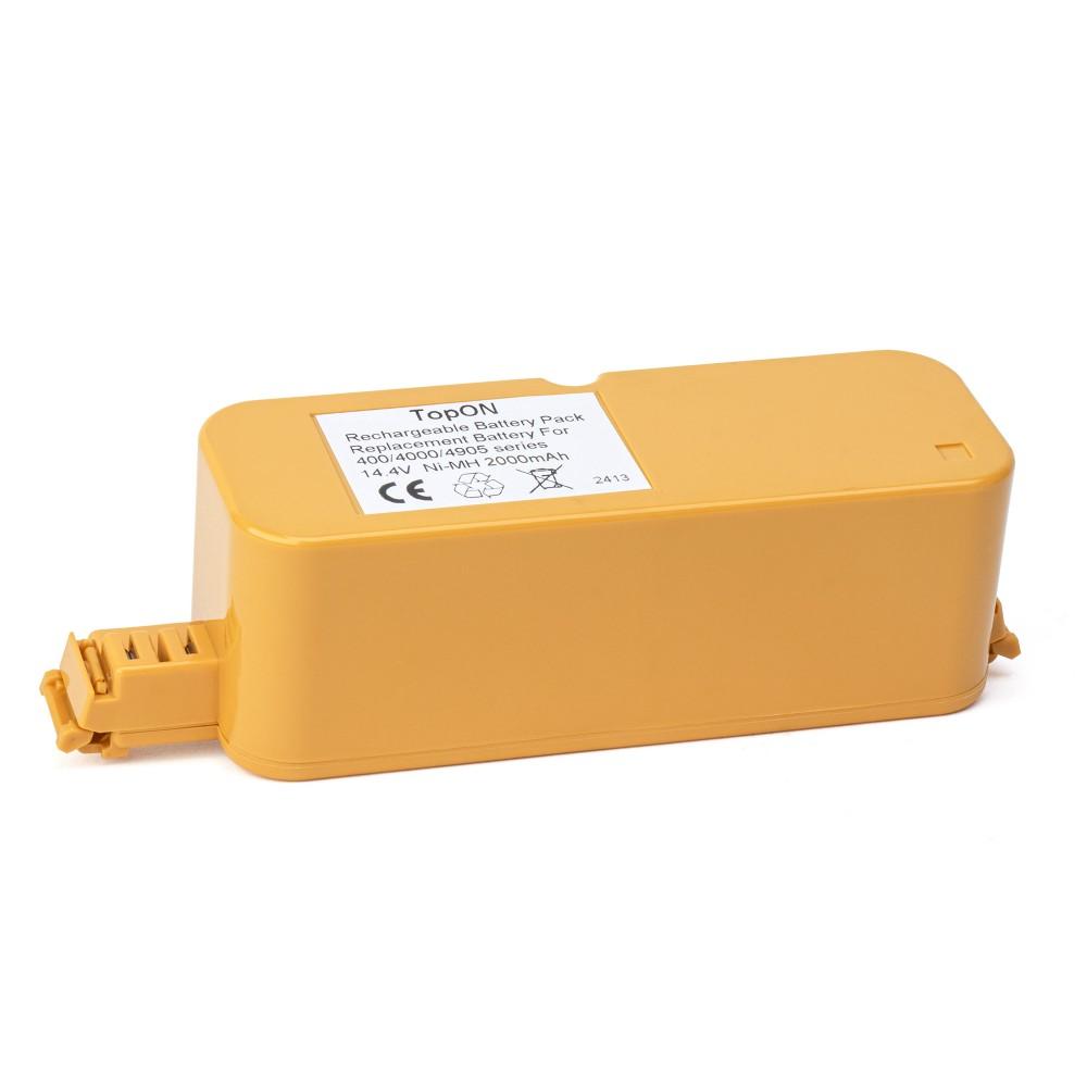 TopON TOP-IRBT400-20 Аккумулятор для робота-пылесоса iRobot Roomba 400, 405, 410, 415, 416, 418, 4000, 4905 Series. 14.4V 2000mAh Ni-MH. PN: 4905.