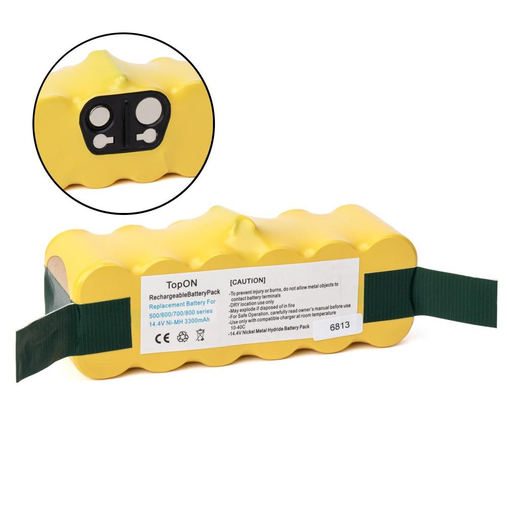 TopON TOP-IRBT500-33 Аккумулятор для робота-пылесоса iRobot Roomba 500, 600, 700, 800, 900 Series. 14.4V 3300mAh Ni-MH. PN: GD-ROOMBA-500.