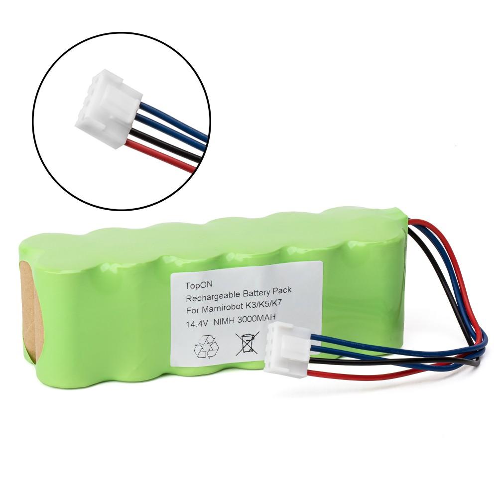 Аккумулятор для робота-пылесоса MamiRobot K3, K5, K7 Sevain, KF3, KF5, KF7, 416, 461. 14.4V 3000mAh Ni-MH. PN: RC-NMMAK7.