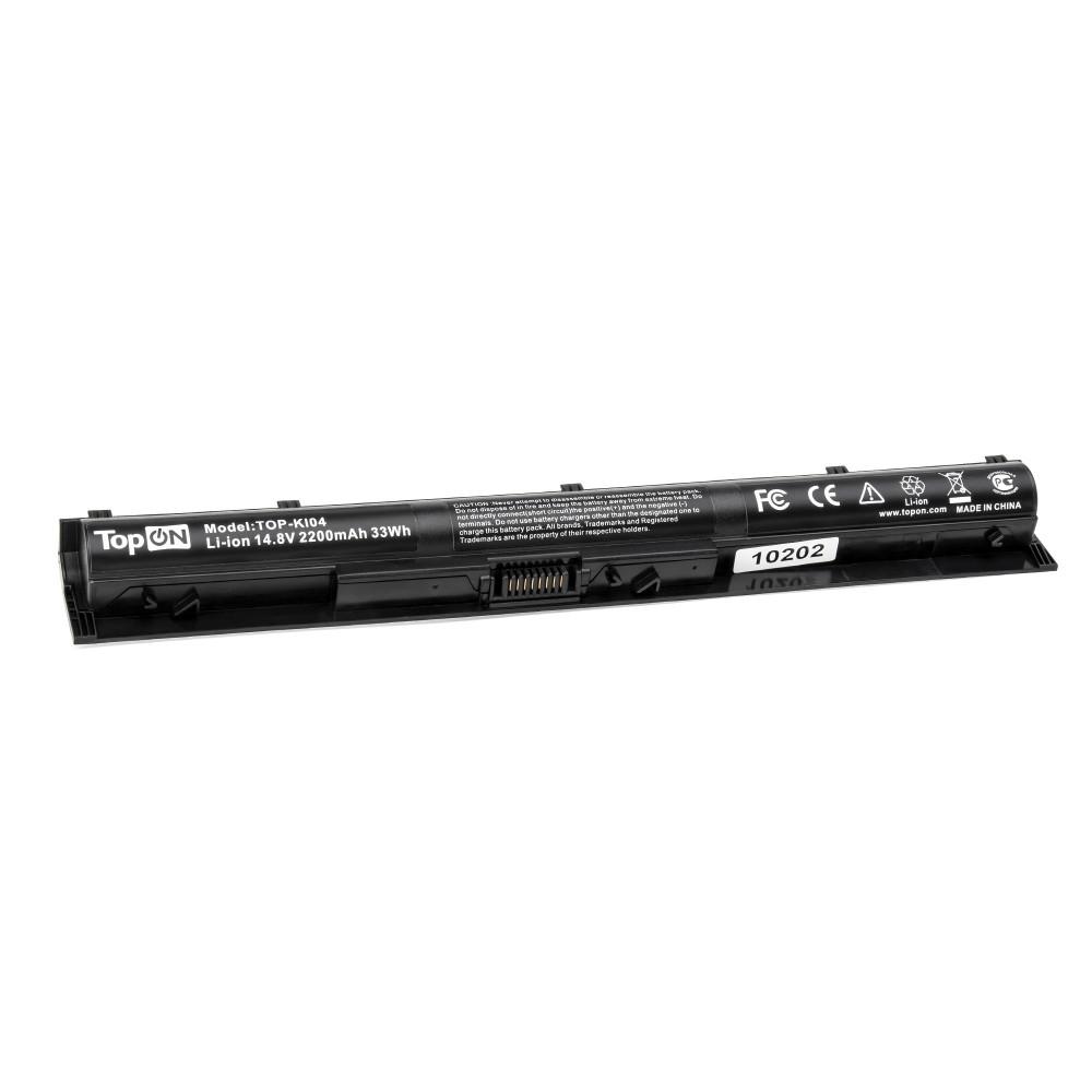 TopON TOP-KI04 Аккумулятор для ноутбука HP KI04 15-ab038TX/14-ab012TX Series. 14.8V 2200mAh 33Wh.