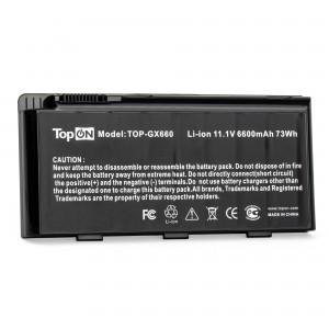 Аккумулятор для ноутбука MSI Erazer X6811, GX680, GX780, GT660, GT780 Series. 11.1V 6600mAh 73Wh. PN: BTY-M6D, S9N-3496200-M47.