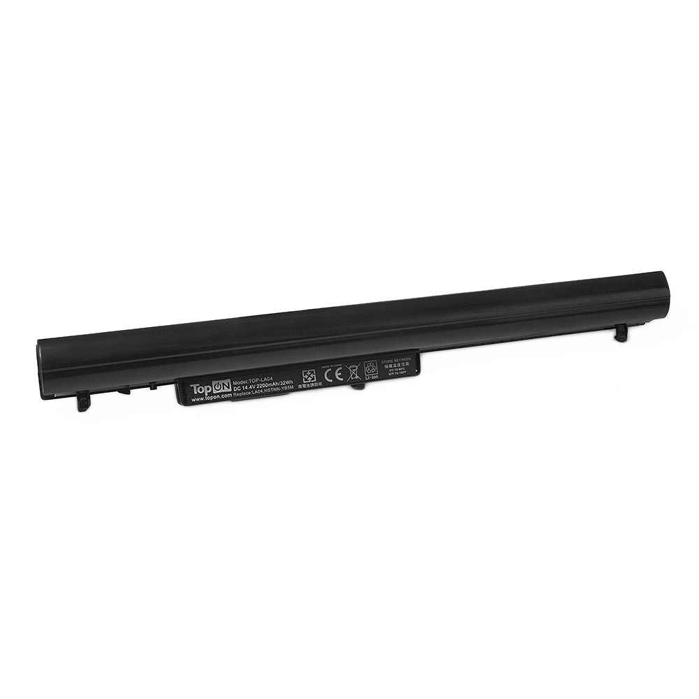 TopON TOP-VK04 Аккумулятор для ноутбука HP Pavilion SleekBook 14, 14t, 15, 15-b, 15z, Chromebook 14 Series. 14.4V 2200mAh 32Wh. PN: 695192-001, HSTNN-YB4D.