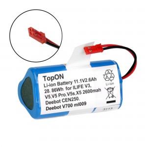 Аккумулятор для робота-пылесоса Chuwi ilife V3, V3s, V3s Pro, V5, V5 PRO, V5S, CW310, X5. 11.1V 2.6Ah (Li-ion) PN: CS-EPV300VX.