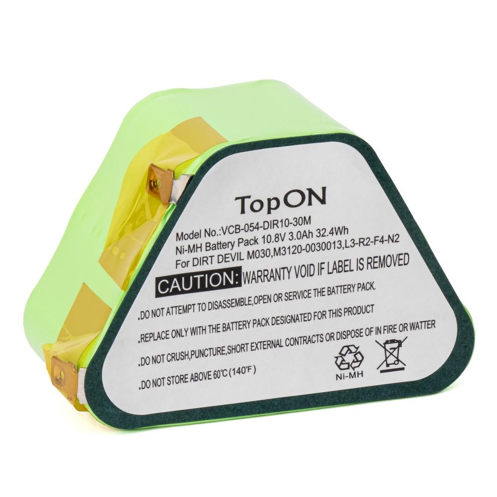TopON TOP-M3120-30 Аккумулятор для пылесоса Dirt Devil M3120, M3121. 10.8V 3400mAh Ni-MH. PN: L3-R2-F4-N2,