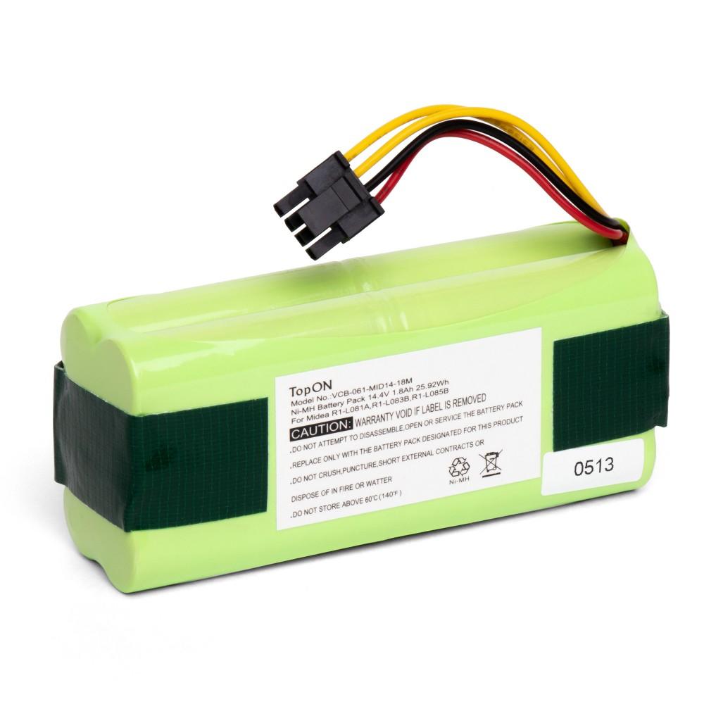 TopON TOP-R1-18 Аккумулятор для робота-пылесоса Midea R1-L081A, R1-L083B, R1-L085B. 12.0V 1800mAh Ni-MH. PN: L083b,