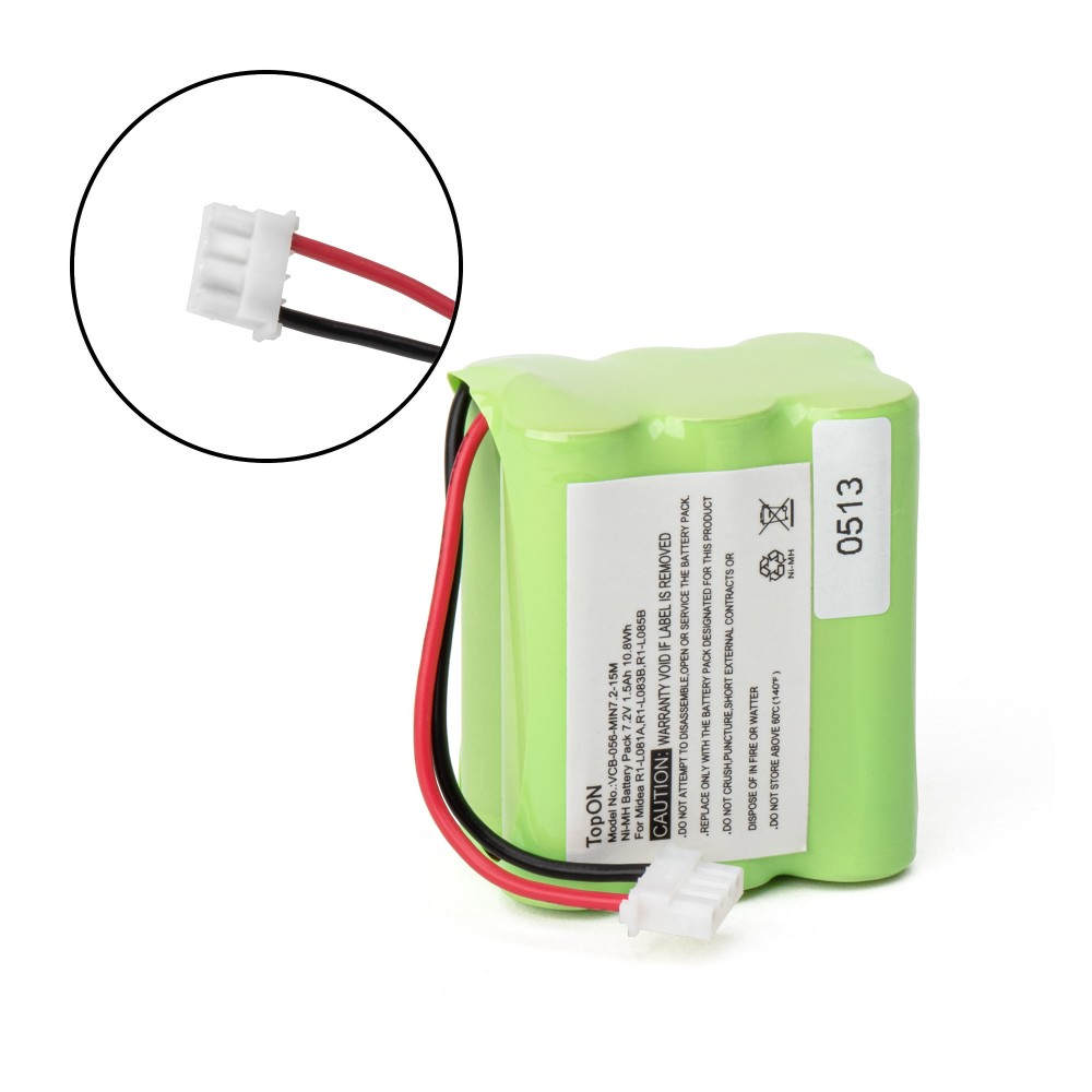TopON TOP-Mint-15 Аккумулятор для робота-пылесоса Mint 4200, 4205, Dirt Devil EVO M678. 7.2V 1500mAh Ni-MH. PN: GPHC152M07,