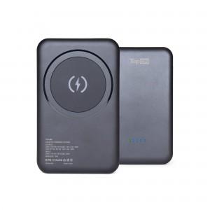 Внешний аккумулятор TopON TOP-M5 5000mAh магнитная беспроводная зарядка Qi 15W, PD 20W Черный