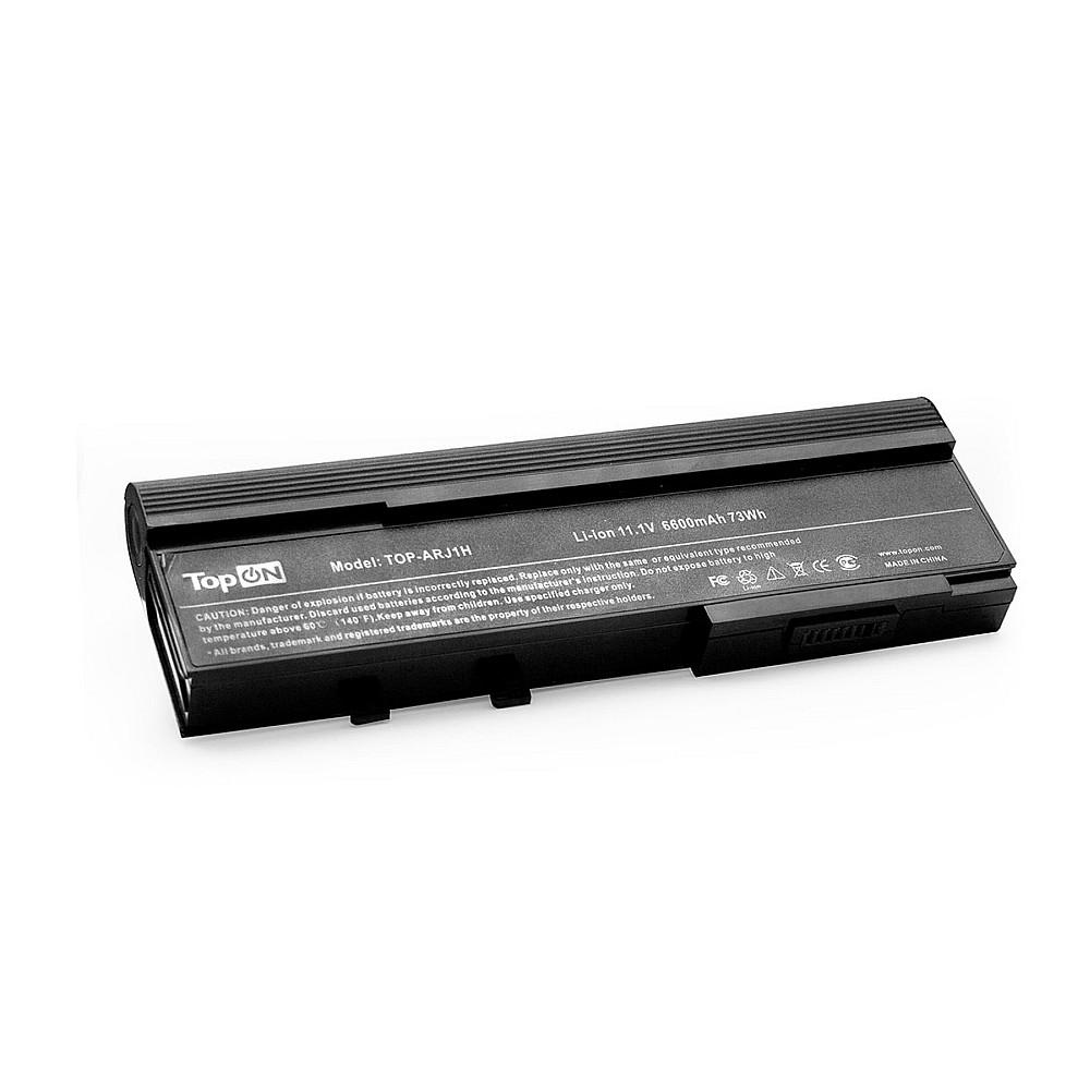 TopON TOP-ARJ1H Аккумулятор для ноутбука Acer Aspire 2420, 4620, Extensa 3100, 4630, TravelMate 6593 Series. 11.1V 6600mAh 73Wh, усиленная. PN: BTP-AMJ1, TM07B41.