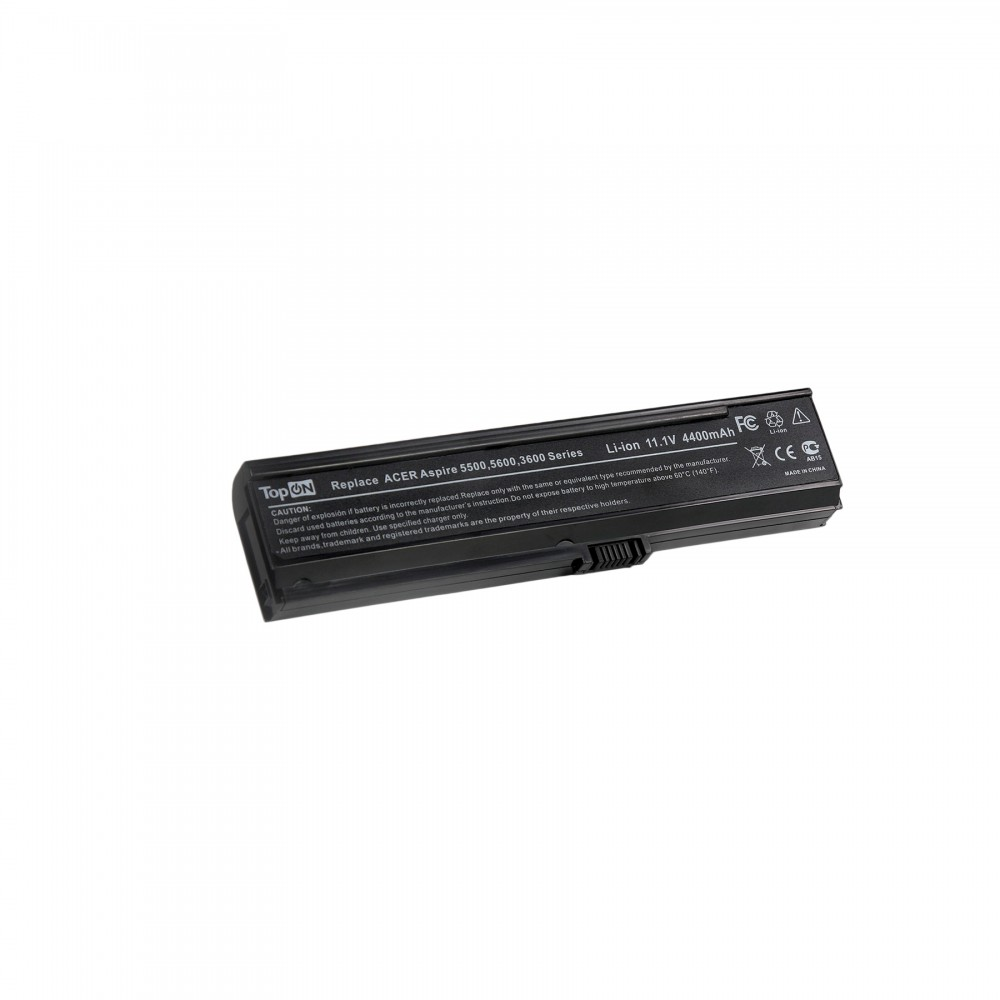 TopON TOP-AC5570 Аккумулятор для ноутбука Acer Aspire 3030, 3600, 5500, 5620, 5580, Travelmate 2480, 3220 Series. 11.1V 4400mAh 49Wh. PN: BT.00603.006.