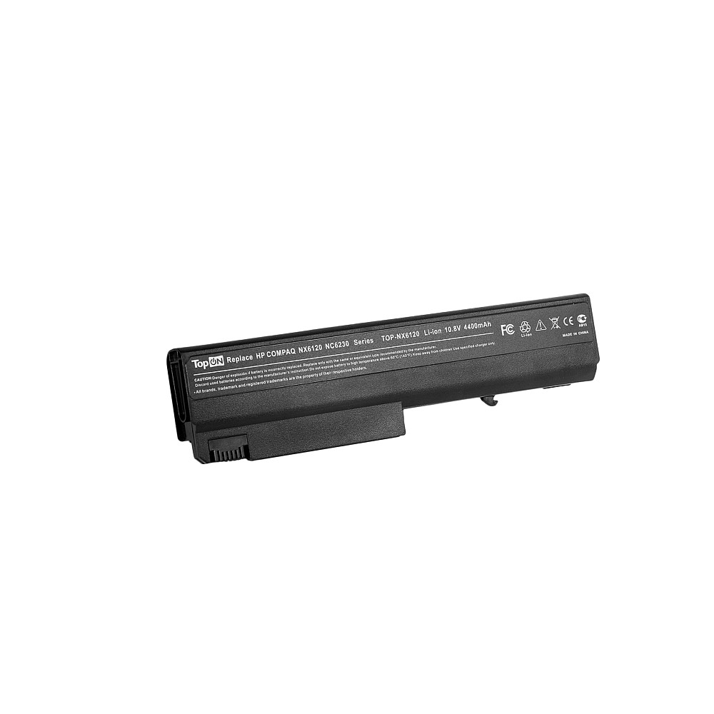 TopON TOP-NX6120 Аккумулятор для ноутбука HP Compaq nc6100, nc6300, nc6400, 6910, nx6105, nx6300 Series. 11.1V 4400mAh 49Wh. PN: PB994A, HSTNN-I05C.