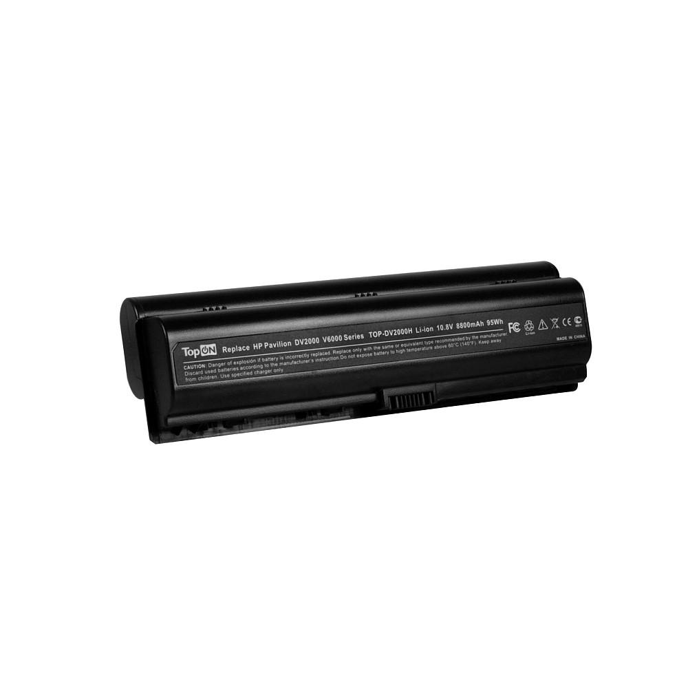 TopON TOP-DV2000H Аккумулятор для ноутбука HP G6000, G7000, Pavilion dv2000, dv6000, dx6600 Series. 10.8V 8800mAh 95Wh, усиленный. PN: HSTNN-IB32, HSTNN-DB42.