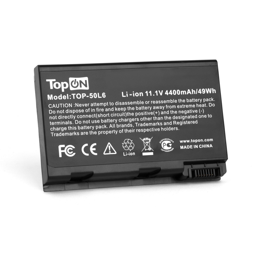 TopON TOP-50L6 Аккумулятор для ноутбука Acer Aspire 3690, 5110, 5680, TravelMate 3900, 4200 Series. 11.1V 4400mAh 49Wh. PN: BATCL50L8, BT.00803.005.