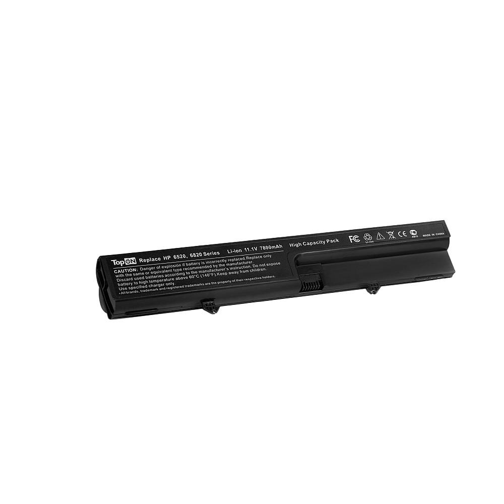 TopON TOP-6520H Аккумулятор для ноутбука HP Compaq 515, 516, 540, 541, Business Notebook 6520, 6820 Series. 11.1V 7800mAh 87Wh, усиленный. PN: HSTNN-DB51, KU530AA.