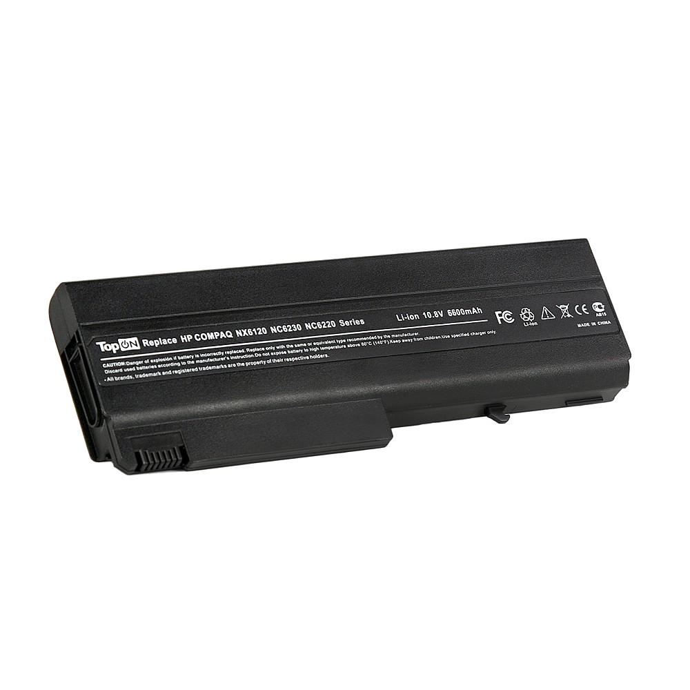 TopON TOP-NX6120H Аккумулятор для ноутбука HP Compaq nc6100, nc6200, nc6400, 6510, 6910, nx6300 Series. 11.1V 6600mAh 73Wh, усиленный. PN: PB994A, HSTNN-I05C.