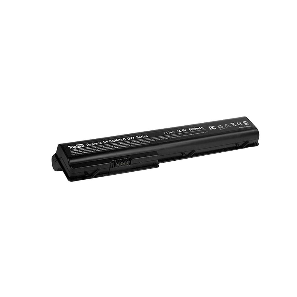 TopON TOP-DV7H Аккумулятор для ноутбука HP HDX18, X18, Pavilion dv7, dv8 Series. 14.4V 6600mAh 95Wh, усиленный. PN: HSTNN-IB75, HSTNN-XB75.