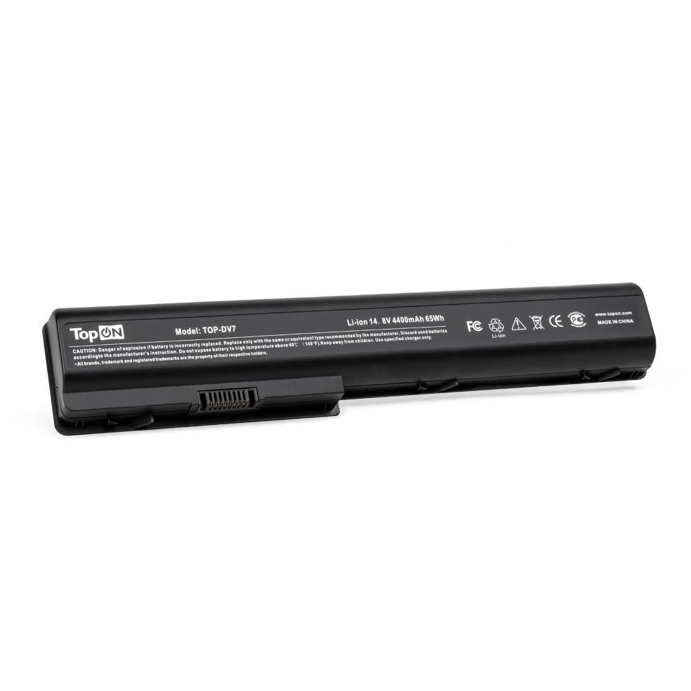 TopON TOP-DV7 Аккумулятор для ноутбука HP HDX18, X18, Pavilion dv7, dv8 Series. 14.8V 4400mAh 63Wh. PN: HSTNN-IB75, HSTNN-XB75.