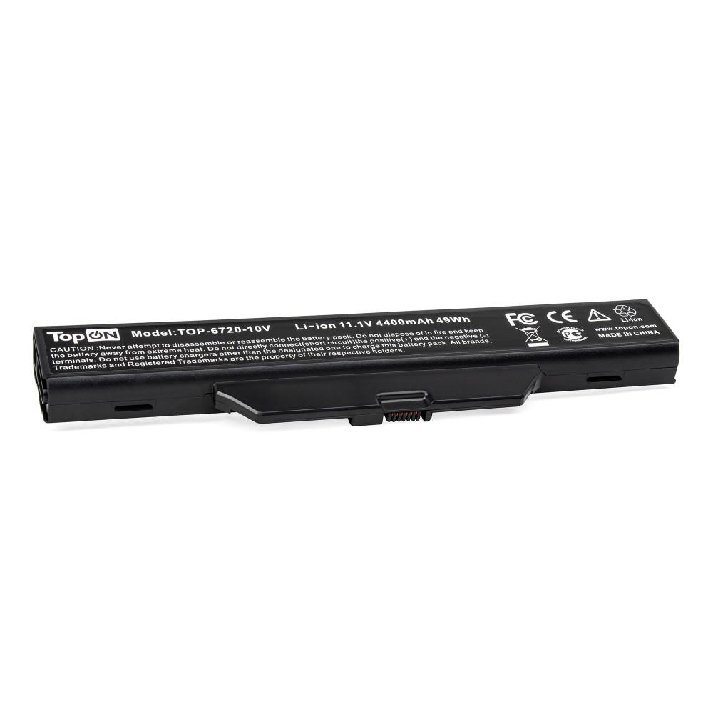 TopON TOP-6720-10V Аккумулятор для ноутбука HP Compaq 515, 550, 610, 615, Compaq Business 6720s, 6820s Series. 10.8V 4400mAh 48Wh. PN: GJ655AA, HSTNN-LB51.