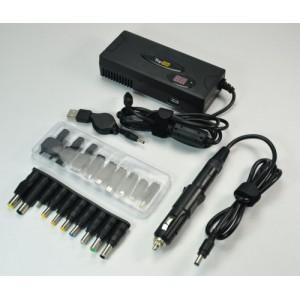 Универсальный сетевой и автомобильный блок питания (адаптер в сеть, авто, самолет) для ноутбука 90W