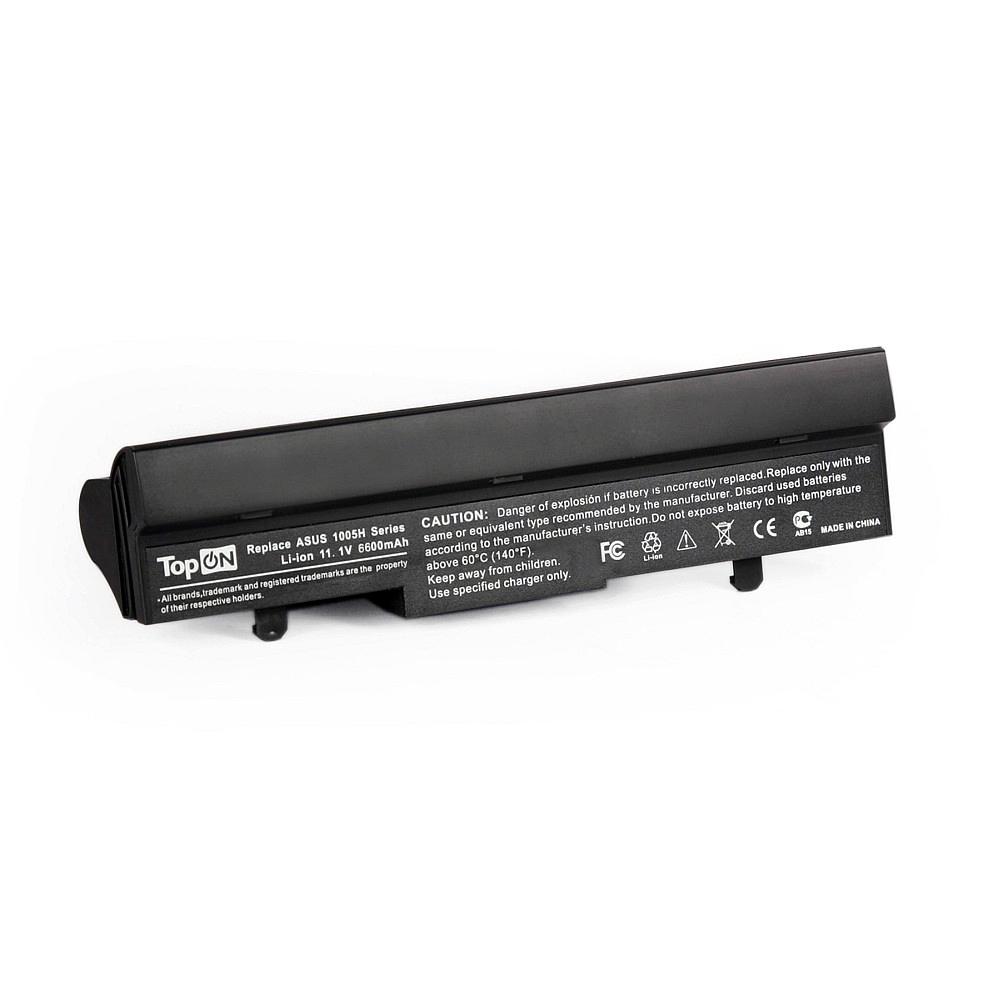 TopON TOP-1005HH Аккумулятор для нетбука Asus Eee PC 1001PX, 1001HA, 1005HA Series. 11.1V 6600mAh 73Wh, усиленный. PN: ML31-1005, AL31-1005.
