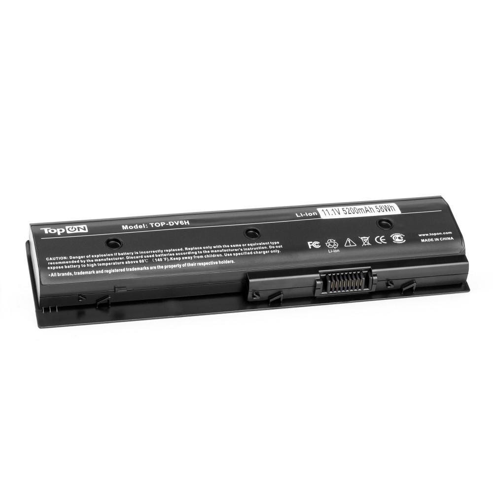 TopON TOP-DV6H Аккумулятор для ноутбука HP Pavilion m6-1000, dv4-5000, dv6-7000, dv7-7000, Envy m6-1100 Series. 11.1V 4400mAh 58Wh. PN: HSTNN-LB3P, MO06.