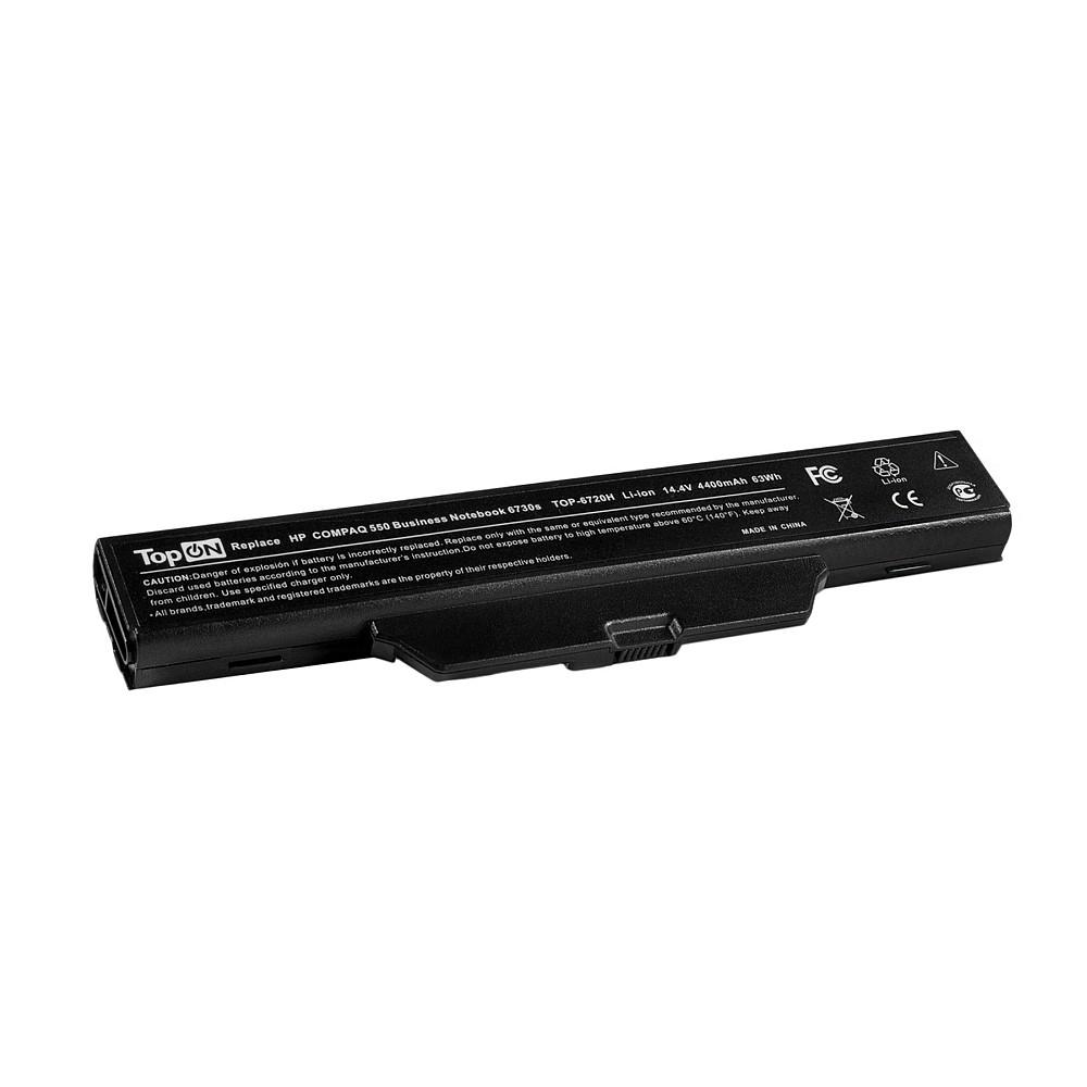 TopON TOP-6720-14V Аккумулятор для ноутбука HP Compaq 511, 550, 610, 615, Compaq Business 6720s, 6820s Series. 14.4V 4400mAh 63Wh. PN: HSTNN-LB51, DD06.
