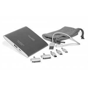Внешний аккумулятор TopON TOP-AIRmini 3500mAh (13Wh), Lightning, micro-USB, mini-USB, Apple 30pin