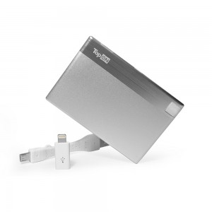 Внешний аккумулятор TopON TOP-CARD 850mAh (3Wh), Lightning, micro-USB